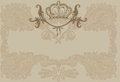 Vintage Ornate Royal Brown Background Stock Images