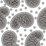 Vintage ornate seamless pattern Stock Photo
