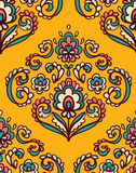 Vintage ornate seamless pattern with Eastern floral elements.  Ornamental vector background. Royalty Free Stock Image