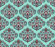 Vintage ornate seamless pattern with Eastern floral elements.  Ornamental vector background. Stock Photos