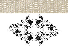 Vintage ornate seamless pattern in rococo style Royalty Free Stock Photography