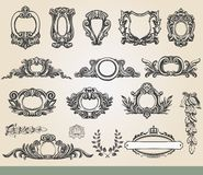 Vintage ornate shield Stock Photos