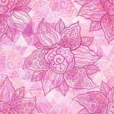 Vintage ornate vector pink flowers Royalty Free Stock Photography