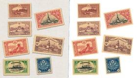 Vintage ottoman stamps stock photo