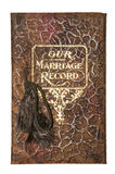 Vintage Our Marriage Record book cover isolated Royalty Free Stock Photo
