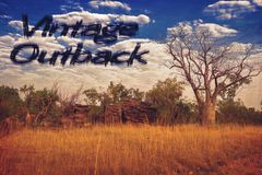 Vintage outback. A vintig australia postcar in a retro style Royalty Free Stock Images