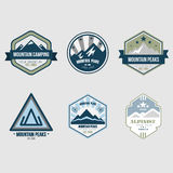 Vintage Outdoor Camp Badges and Logo Emblems Royalty Free Stock Image