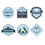 Vintage Outdoor Camp Badges and Logo Emblems Royalty Free Stock Photography