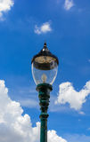 Lamp. Traditional vintage outdoor lamp with blue sky Stock Photo