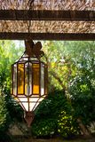 Vintage Outdoor Porch Pendant Lamp Garden Fixture Lights Vintage Terrace Lighting Stock Image