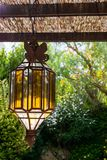 Vintage Outdoor Porch Pendant Lamp Garden Fixture Lights Vintage Terrace Lighting Royalty Free Stock Photography