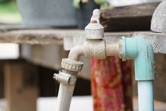Vintage outdoor tap. Stock Images