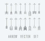 Vintage outlined arrows Royalty Free Stock Photography
