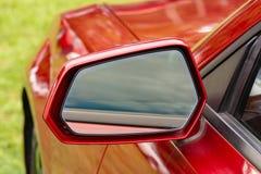 Vintage Outside Rear Mirror stock photo