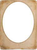 Vintage oval frame Stock Photography