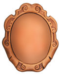 Vintage oval frame Royalty Free Stock Images