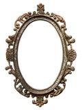 Vintage oval frame. Vintage metal oval frame isolated on white background Stock Images