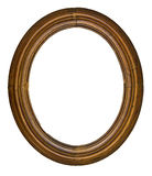 Vintage oval frame. Vintage wooden oval frame isolated over white background Stock Photo
