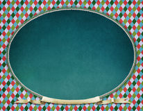 Vintage oval frame. Background for  greeting card or poster of New Year or Xmas   with  Vintage oval frame.  Computer graphics Royalty Free Stock Photos