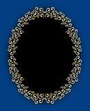 Vintage Oval Swirl Frame Stock Images