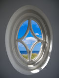 Vintage oval window Royalty Free Stock Images