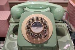 Vintage pálido - telefone verde Foto de Stock Royalty Free