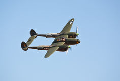 Vintage P-38 Lightning Stock Photography