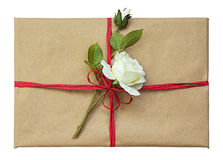 Vintage package with a rose Stock Photos