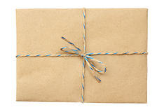 Vintage package  tied up with string Stock Images