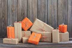 Vintage packages Royalty Free Stock Photo