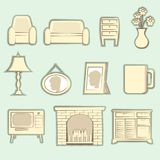 Vintage packages Icons Interior Vector Royalty Free Stock Photos