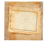 Vintage packaging paper label on grunge background Stock Photos