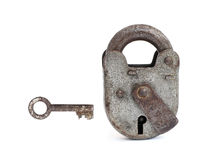 Vintage pad lock Royalty Free Stock Photos