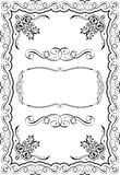 Vintage page decoration. Is on white Royalty Free Stock Photos
