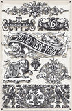 Vintage Page Hand Drawn Banners and Labels Royalty Free Stock Photography