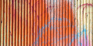 Vintage painted metall wall Stock Image