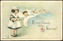 Vintage Painted Postcard Royalty Free Stock Images