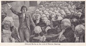 Free Vintage Painting / Illustration Of Edmund Burke At The Trial Of Warren Hastings Royalty Free Stock Images - 215028069