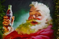 Vintage painting of Santa Claus in International Drive area.