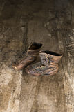 Vintage Pair Of 1940's Era Toddler Boots Stock Photography
