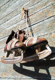 Vintage pair of mens  ice skates Stock Photography