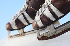 Vintage pair of mens  skates Royalty Free Stock Photography