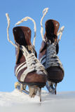 Vintage pair of mens  skates Stock Photos