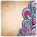 Vintage paisley background Stock Photography