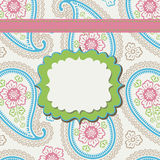 Vintage Paisley Design template or artwork Royalty Free Stock Images