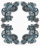 Vintage paisley frame Stock Photos
