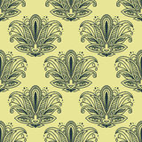Vintage Paisley seamless floral pattern Stock Images