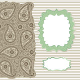Vintage Paisley Strip lace.Design template,artwork Stock Image