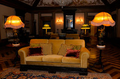Vintage Palace Interior, Old-Fashioned Living Room, Royalty Free Stock Photo