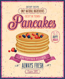 Vintage Pancakes Poster. Vector Illustration